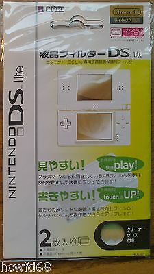 Nintendo DS  DS Lite Etc Clear Screen Protector Scratch Guard 2 Pack + Cloth