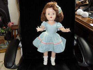 Vintage Ideal Hard Plastic Doll 18""