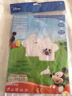 Mickey Mouse Raincoat Transparent 5/6 Years