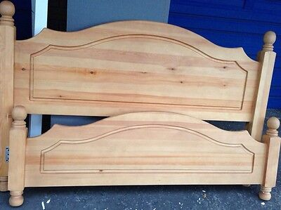 Wooden Double Bed Head And foot