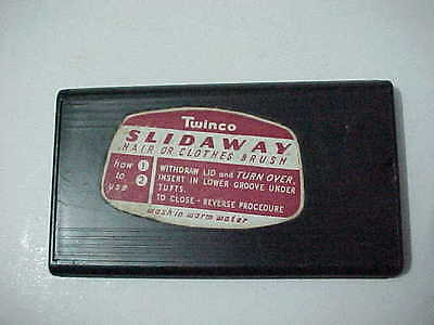 Vintage Twinco Slideaway Folding Travel Clothes Brush - collectable