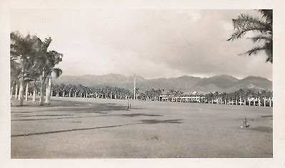 WWII 1940s Fort Shafter Parade Grounds Hawaii  Photo