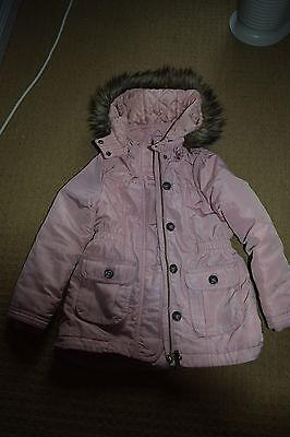 Gorgeous girls coat - H&M - pale pink - 6-7 years