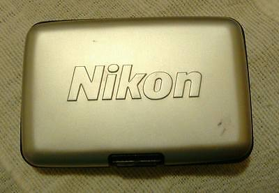 Nikon CF / SD Card Hard Aluminium Case with Rubber inner - fast postage.Genuine.