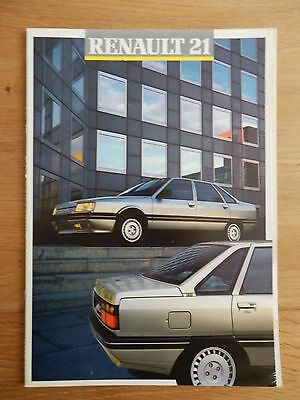 RENAULT 21 gamme brochure 22 pages 07/1987