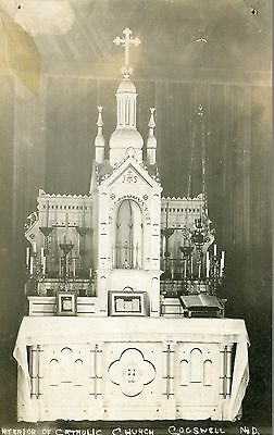 Nd Cogswell / Interior Of Catholic Church / Real Photo / Dated 1909