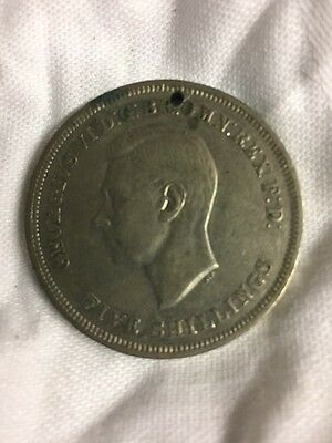 George VI five shilling  crown coin 1951