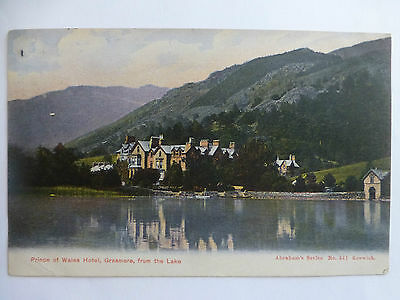 Grasmere Prince of Wales Hotel from Lake - Old Cumbria Postcard