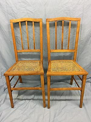 ANTIQUE PAIR of ELEGANT INLAID SATINWOOD BERGERE CHAIRS