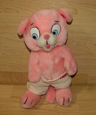 """Vintage 1984 Mighty Star Pink Panther and Sons Panky Plush Doll 10"""""""