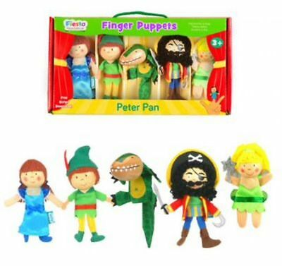 Peter Pan Finger Puppet Set - 5 Fiesta Crafts Childrens Role Play Storytelling