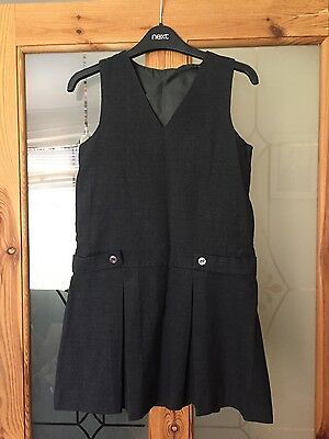 Girls Grey Pinafore Dress Uniform Excellent condition
