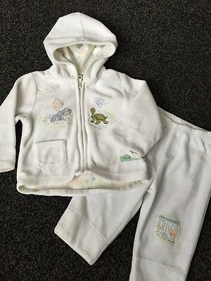 Disney White Babies Outfit Hoodie And Bottoms Age 6 Months Set