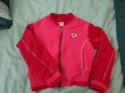 GIRLS PRETTY PINK/RED TRACKSUIT JACKET by CONVERSE ALL STAR age 4-5 yrs