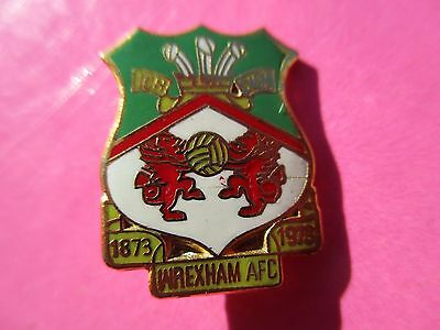 Old..wrexham Football Club..1873 - 1973 Centenary..red & White..gilt Pin Badge