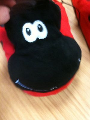 Childrens Come To Life Ladybird Slippers, Size UK 10-12 / Large