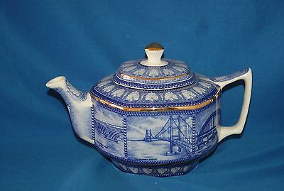Ringtons Wade Northern Bridges  blue and white 1.5 pint teapot
