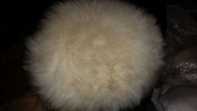 Vintage Retro ? Ladies White Faux Fur Hat
