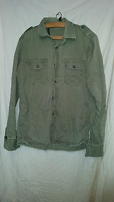 Vintage  Retro ?  Army Military Desert Shirt 44 Chest Aemkei