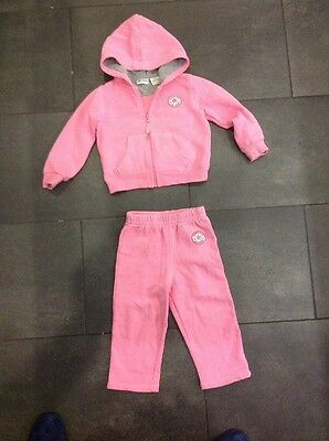 Girls Converse Pink Track Suit Age 1 2