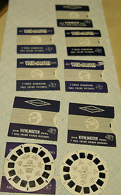 View Master Reels x 9 -Melbourne, Coventry Cathedral, Cornwall,York, Scarborough