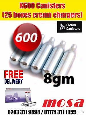 Wholesale 25 Boxes Canisters Cream Chargers Nos N20 Gas Nitrous Oxide