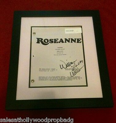Rosanne Tv show Set Used Script Signed by the Writer & Co-Producer Framed W/COA