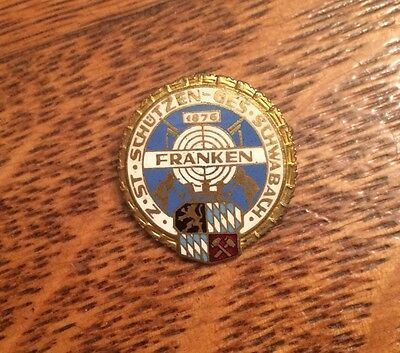Old Wwi German Enamel Shooting Pin