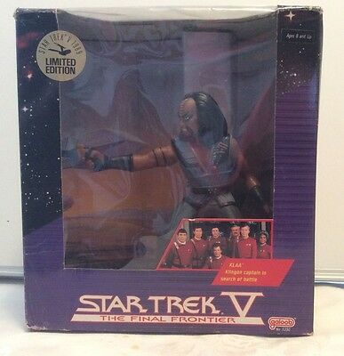 Galoob Star Trek V Klingon Captain Klaa figure, 1989 (KEE)