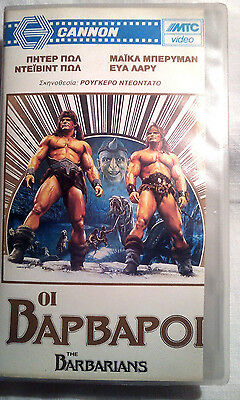The Barbarians (1987) Fantasy twins bodybuilding fitness nude David Paul 80s
