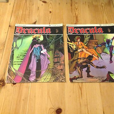 Dracula Vol 1 #7&9 1972 Vintage Horror Comic Magazine New English Library Warren