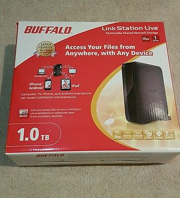 Buffalo Link Station Live 1.0 TB Multimedia Shared Network Storage