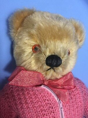 """1950s Antique Chad Valley Flat Foot Old Teddy Bear """"Jamie"""""""