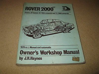 Haynes Rover 2000 SC TC Owners Workshop Manual