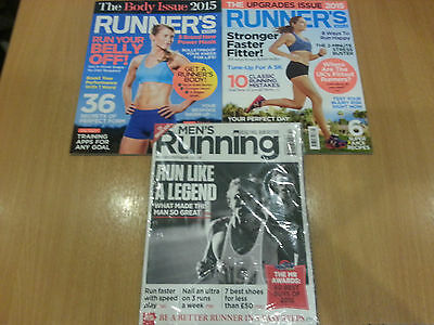 3 Runners World & Mens Running Magazines from 2015 - Excellent Condition