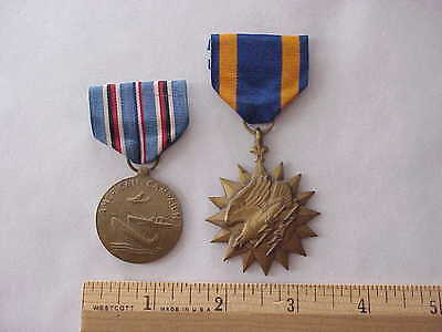 ORIGINAL WWII American Campaign & Air Medal Lot of 2