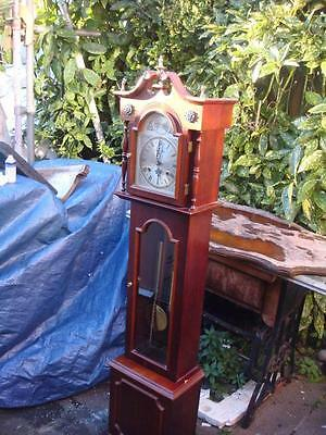 Granddaughter Longcase 31Day Strike Clock With Show Chain & Weight SEE VIDEO