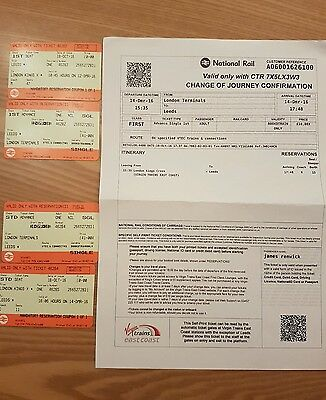 1st class return travel from Leeds to London