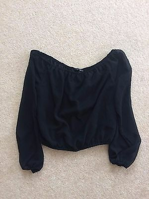 Girls New Look Sheer Sleeve top size 10/11 YRS