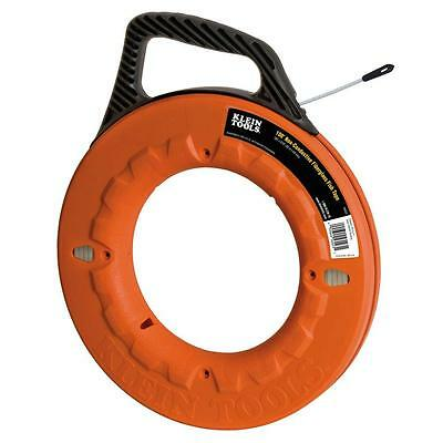 Klein Tools 50 ft. Non Conductive Fiberglass Fish Tape Kit Wire Cable Puller NEW