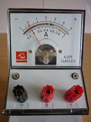NEW BOXED Bench Meter Ammeter Dual Scale