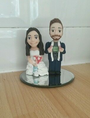 personalised cake topper, bride and groom, wedding cake decor.