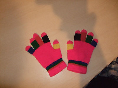 Childs Multicoloured wooly gloves
