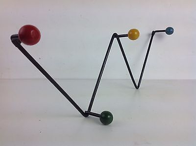 Original Vintage atomic sputnik coat hat hooks old retro