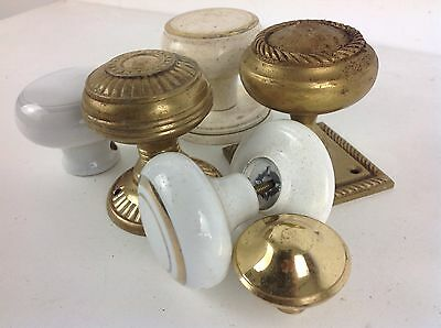 Job Lot Brass Pull Drawer Draw Handles Knobs Old Reclaimed Architectural Vintage