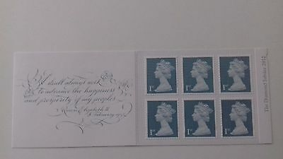 GB Stamp label booklet Diamond Jubilee 2012