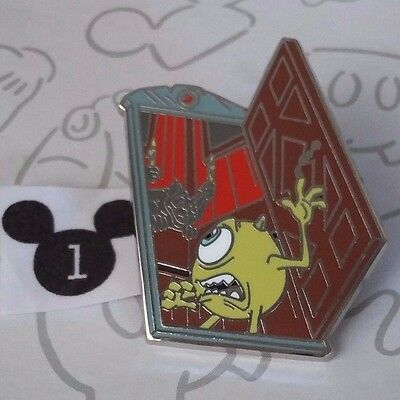 Mike Getting Scared Monsters Inc Haunted Mansion Door Starter Disney Pin