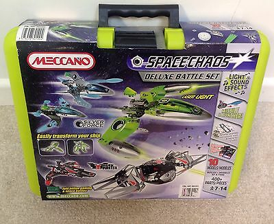 Meccano Space Chaos Deluxe Battle Set 10 Models New In Case