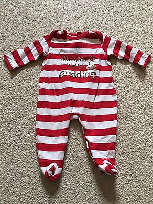 Mamas And Papas Christmas Sleepsuit 3-6 Months
