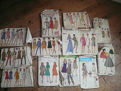 Vintage 1060's Sewing Patterns x 13